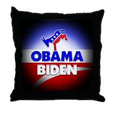 Obama Biden Democrats Throw Pillow