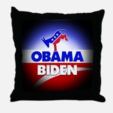 Obama Biden Democrats Throw Pillow