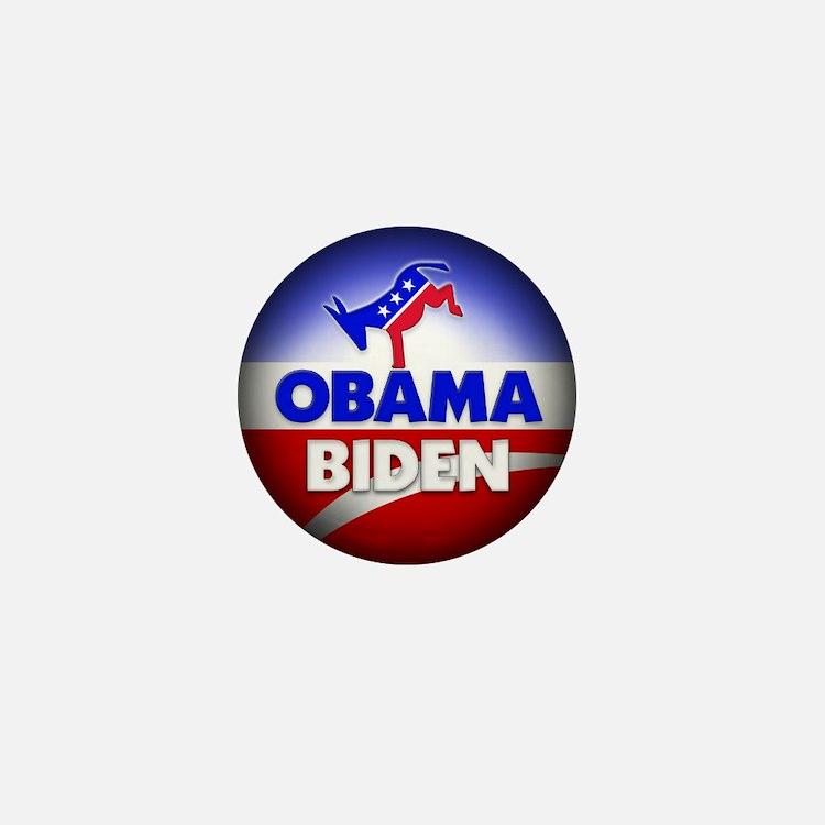 Obama Biden Democrats Mini Button