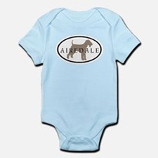 Airedale Terrier Oval #2 Infant Bodysuit