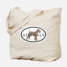 Airedale Terrier Oval #2 Tote Bag