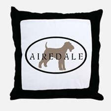 Airedale Terrier Oval #2 Throw Pillow