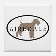 Airedale Terrier Oval #2 Tile Coaster