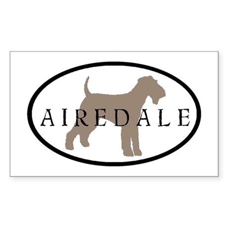 Airedale Terrier Oval #2 Rectangle Sticker