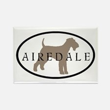 Airedale Terrier Oval #2 Rectangle Magnet