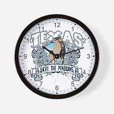 Save the Penguin Texas Wall Clock