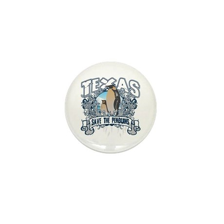 Save the Penguin Texas Mini Button (10 pack)