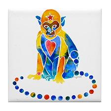 Isabella's Monkey Tile Coaster