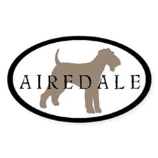 Airedale Terrier Oval #2 Oval Decal