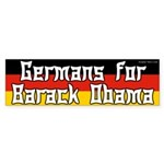 Germans for Obama bumper sticker