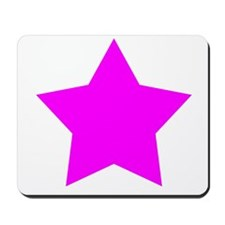 White Emo Star Mousepad