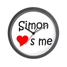 Cute Simon Wall Clock