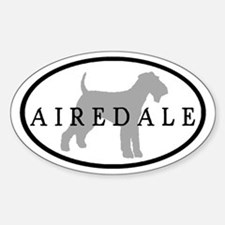 Airedale Terrier Oval #3 Oval Decal