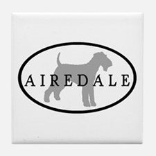 Airedale Terrier Oval #3 Tile Coaster