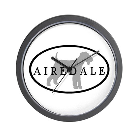 Airedale Terrier Oval #3 Wall Clock