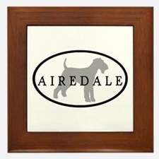 Airedale Terrier Oval #3 Framed Tile