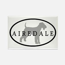 Airedale Terrier Oval #3 Rectangle Magnet (10 pack