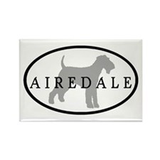 Airedale Terrier Oval #3 Rectangle Magnet