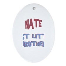 Nate - Best Little Brother Oval Ornament