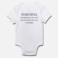 Warning:screenplay Infant Bodysuit