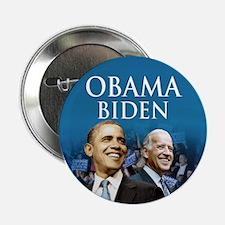 "Obama-Biden Blue Large Logo 2.25"" Button"