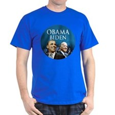 Obama-Biden Blue Large Logo T-Shirt