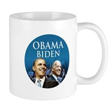 Obama-Biden Blue Large Logo Mug