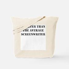 Average screenwriter Tote Bag