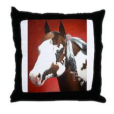 paint horse Throw Pillow