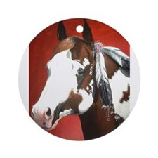 paint horse Ornament (Round)