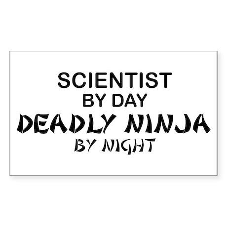 Scientist Deadly Ninja by Night Sticker (Rectangle