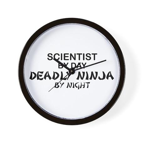 Scientist Deadly Ninja by Night Wall Clock