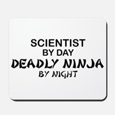 Scientist Deadly Ninja by Night Mousepad