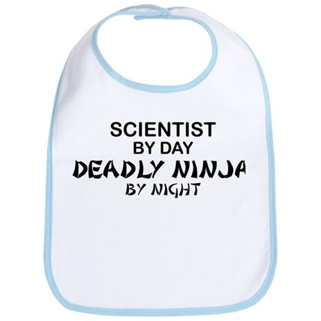 Scientist Deadly Ninja by Night Bib