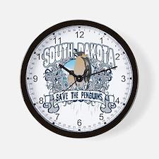 Save the Penguin South Dakota Wall Clock