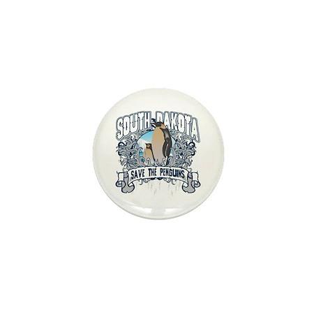Save the Penguin South Dakota Mini Button