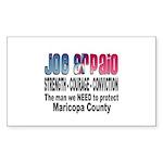 Sheriff Joe Arpaio the man we Rectangle Sticker 1
