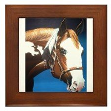 Native Paint Horse Framed Tile