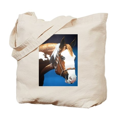 Native Paint Horse Tote Bag
