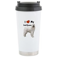 I Love My Great Pyrenees Travel Mug