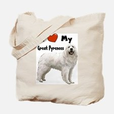 I Love My Great Pyrenees Tote Bag