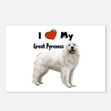I Love My Great Pyrenees Postcards (Package of 8)