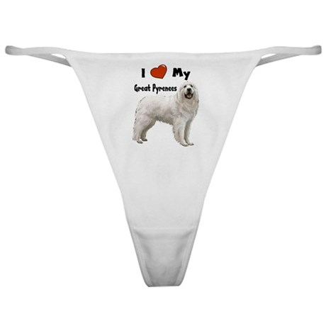 I Love My Great Pyrenees Classic Thong