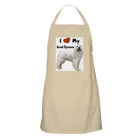 I Love My Great Pyrenees BBQ Apron