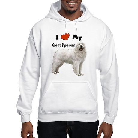 I Love My Great Pyrenees Hooded Sweatshirt