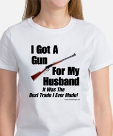 """Rifle For My Husband"" Women's White Tee"