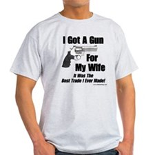 """Handgun For My Wife"" T-Shirt"