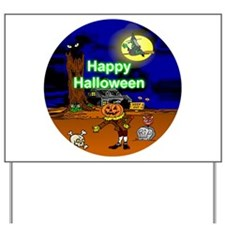 Halloween Scene Yard Sign