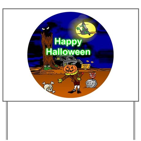 Halloween Scene Yard Sign