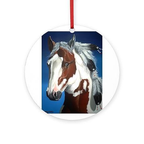 Native Paint Horse Ornament (Round)